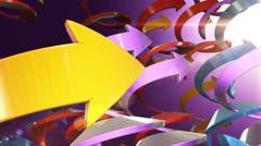 Color Arrows VBHD0441 - stock footage