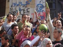 April 6 youth Bring zucchini referred against the Egyptian public prosecutor Stock Photos