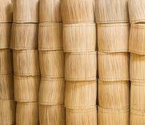 stacks of wood sticks bundle - stock photo