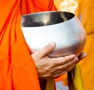 Monk s alms bowl Stock Photos