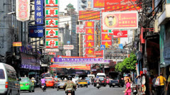 Stock Video Footage of Bangkok city traffic, Asia