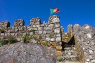 Stock Photo of castelo dos mouros in the village of sintra, portugal