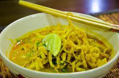 Egg Noodles. - stock photo