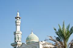 mosque of islam. - stock photo