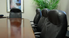 Pushing forward Conference table Stock Footage