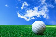 Stock Illustration of golf-ball on course