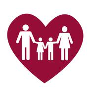 Family and heart Stock Illustration