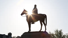 Stonewall Jackson statue EDITORIAL USE ONLY - stock footage