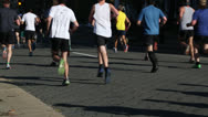 Stock Video Footage of Running the Ukrop's Monument Avenue 10K  EDITORIAL USE ONLY