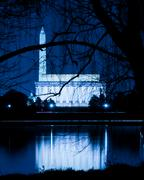 Washington dc skyline at night Stock Photos