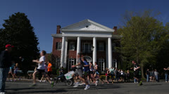Marathon race EDITORIAL USE ONLY Stock Footage