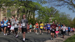 10K runners and walkers EDITORIAL USE ONLY Stock Footage