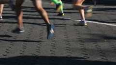 Running a race down the street EDITORIAL USE ONLY Stock Footage
