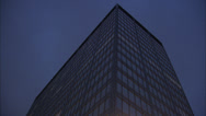 Exterior of New Scotland Yard at Dusk Timelapse Video Stock Footage
