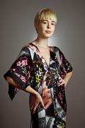 Kimono girl portrait Stock Photos