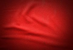 red fabric background crease old texture pattern for design - stock photo