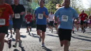 Stock Video Footage of Marathon runners EDITORIAL USE ONLY
