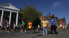 Cheers for Ukrop's Monument Avenue 10K EDITORIAL USE ONLY Stock Footage