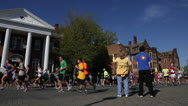 Stock Video Footage of cheers for Ukrop's Monument Avenue 10K EDITORIAL USE ONLY