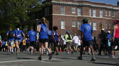 Ukrop's Monument Avenue 10K EDITORIAL USE ONLY Stock Footage