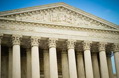 us supreme court building detail - stock photo