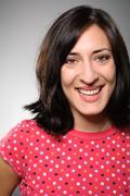 latina woman smiling portrait - stock photo