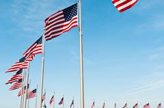 ring of us flags - stock photo