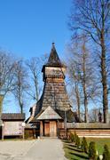 Old wooden church in debno, poland Stock Photos