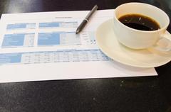 Documents on the table. Stock Photos