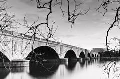 arlington memorial bridge - stock photo