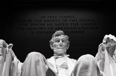 Close Up Of The Lincoln Memorial Statue In Washington DC - stock photo