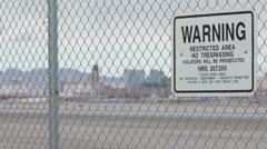 002 plane Las Vegas airport Stock Footage