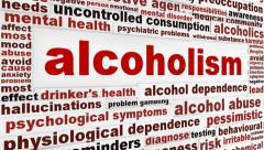 Alcoholism medical message - stock footage