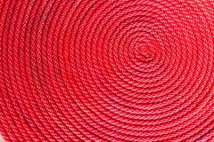 red rope coil - stock photo
