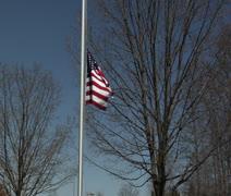 American Flag half mast Stock Footage