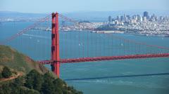 San Francisco Golden Gate Bridge Time-Lapse Afternoon - stock footage