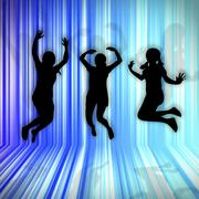 abstract background for enjoy jumping with blue light - stock illustration