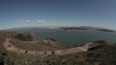 Wide view of San Francisco Bay from Hawk Hill - stock footage