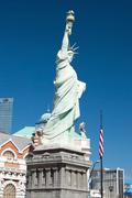 replica of the statue of liberty in new york-new york on the las vegas strip - stock photo