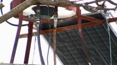 Leaking boiler water pipe Stock Footage