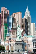 Replica of the statue of liberty in new york-new york on the las vegas strip Stock Photos