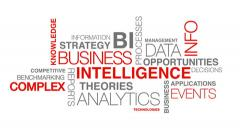 Business intelligence word cloud text animation Stock Footage