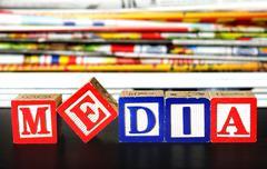 Stock Photo of media word
