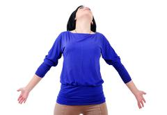 Isolated casual woman Stock Photos