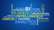 Stock Video Footage of Business intelligence word cloud text animation