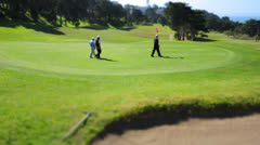 San Francisco Golfers Putting Green Stock Footage