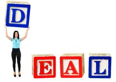 deal word - stock photo