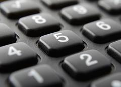 calculator keypad close up - stock photo