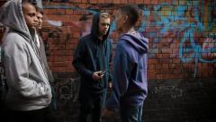 Urban gang Stock Footage