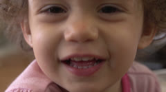 Baby girl laughing Stock Footage